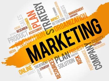 brand activity: Marketing word cloud, business concept