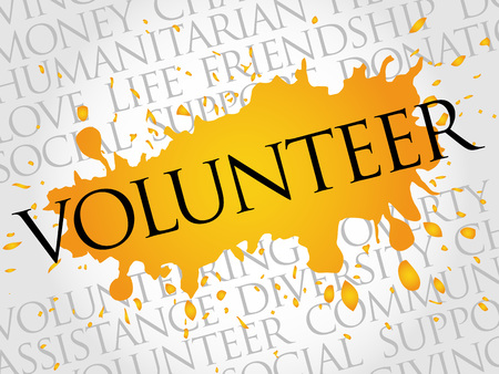 altruism: Volunteer word cloud concept Illustration
