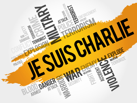 bloodshed: Je suis Charlie word cloud concept Illustration