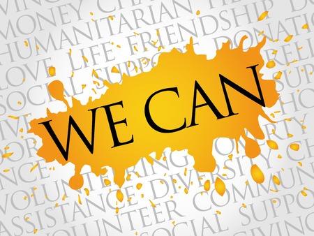 dedicate: We Can, word cloud concept