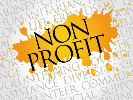 non profit: Non Profit word cloud concept