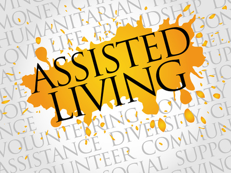 home care nurse: Assisted Living word cloud concept