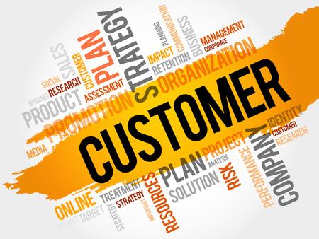 顧客の単語の雲、ビジネス コンセプト