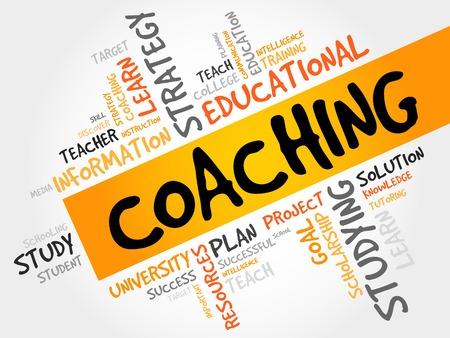 coaching: COACHING word cloud, education concept