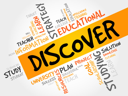 discover: DISCOVER word cloud, education concept Illustration