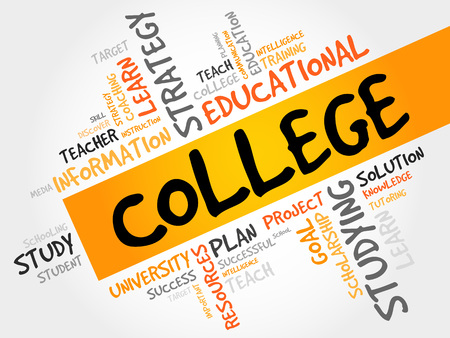 erudition: COLLEGE word cloud, education concept