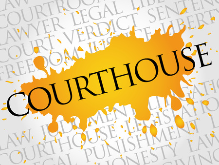 courthouse: Courthouse word cloud concept Illustration