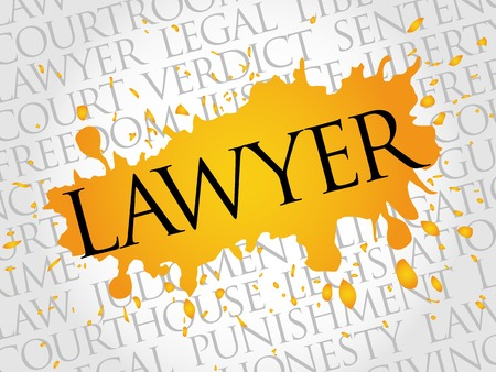 advocacy: Lawyer word cloud concept