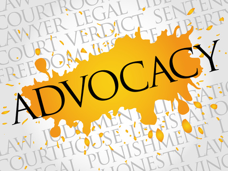 urging: Advocacy word cloud concept