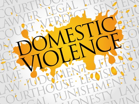 plaintiff: Domestic Violence word cloud concept Illustration