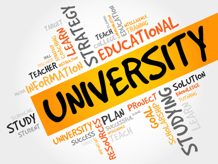 apprenticeship: UNIVERSITY word cloud, education concept