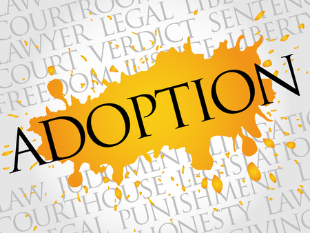 orphan: Adoption word cloud concept Illustration