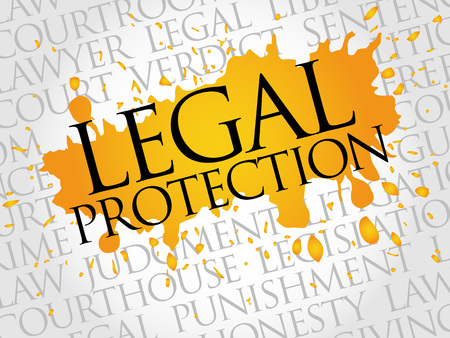 counsel: Legal Protection word cloud concept