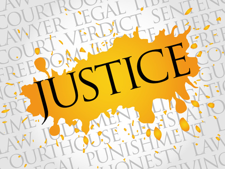 race relations: Justice word cloud concept