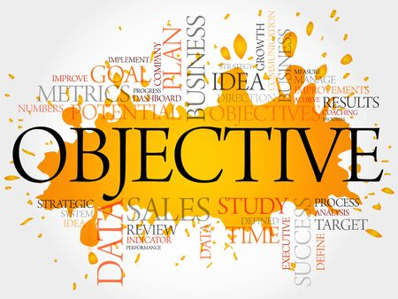 timeframe: Objective word cloud, business concept