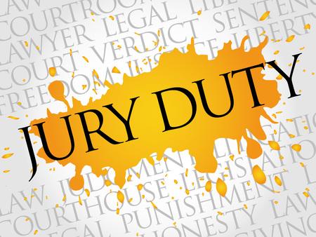 Jury Duty word cloud concept