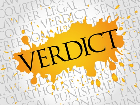 moral: Verdict word cloud concept Illustration