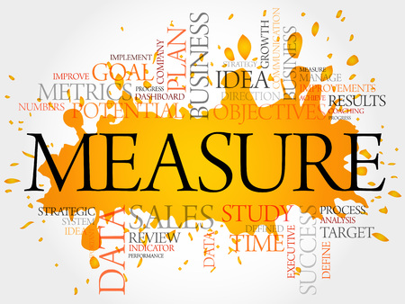 input output: Measure word cloud, business concept