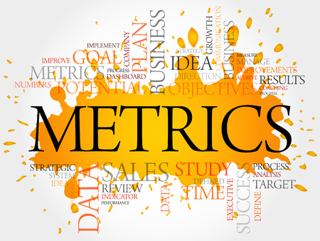 metrics: Metrics word cloud, business concept