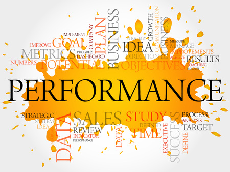 marketing team: Performance word cloud, business concept