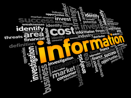 forewarning: Information word cloud, business concept