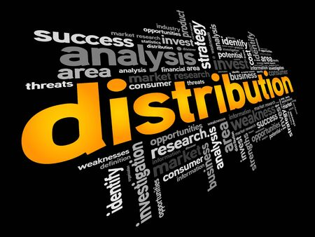 share prices: Distribution word cloud, business concept
