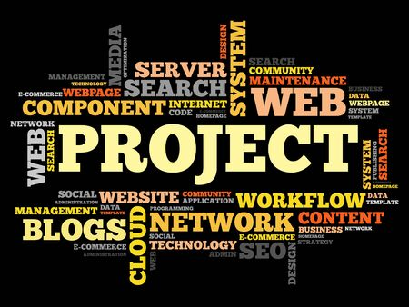 consistency: Project word cloud, business concept