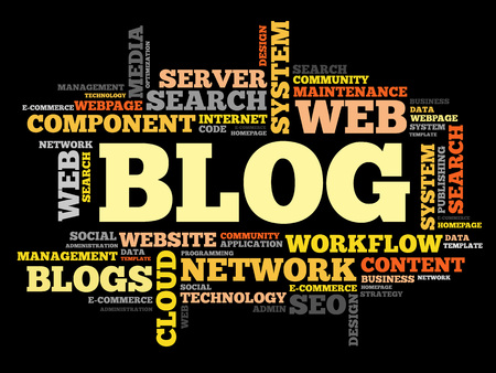 podcasts: Blog word cloud, business concept