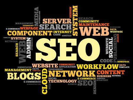 cloud search engine: SEO (search engine optimization) word cloud business concept