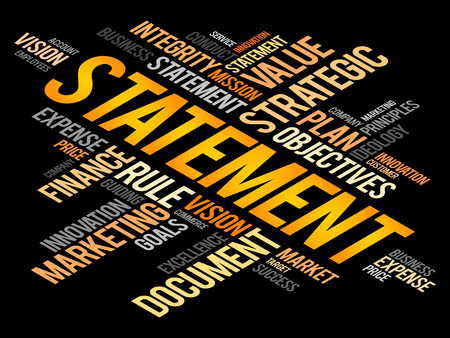 accountancy: Statement word cloud, business concept