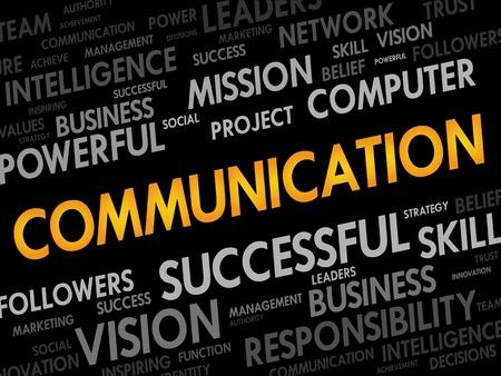 advisement: COMMUNICATION word cloud, business concept
