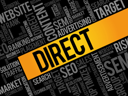marketer: DIRECT word cloud, business concept Illustration