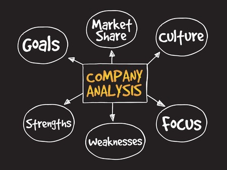 mindmap: Company analysis mind map business concept