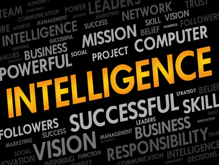meta analysis: Intelligence word cloud, business concept