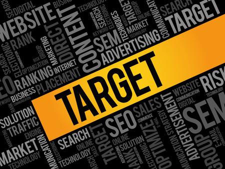 smart goals: TARGET word cloud, business concept