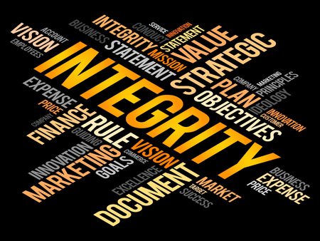 morals: Integrity word cloud, business concept