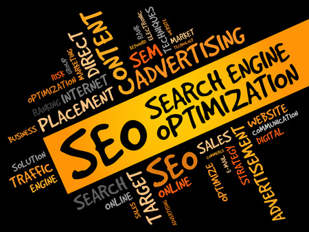 metasearch: SEO (search engine optimization) word cloud business concept
