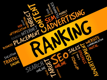 php: RANKING word cloud, business concept