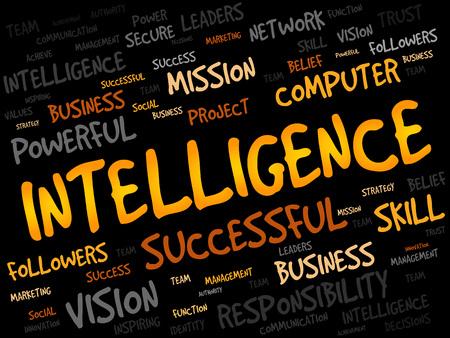 meta: Intelligence word cloud, business concept