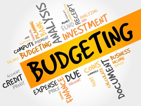 budget: BUDGETING word cloud, business concept