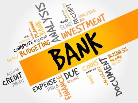 industrialist: BANK word cloud, business concept