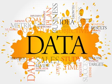 Data word cloud, business concept 일러스트