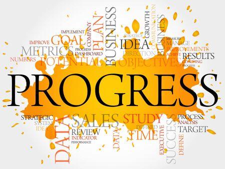 teaming: Progress word cloud, business concept