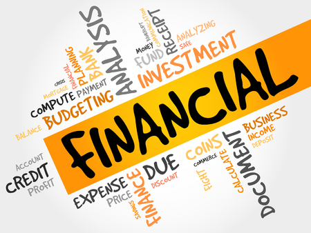 refinancing: FINANCIAL word cloud, business concept