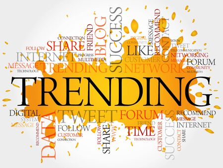 business trending: Trending word cloud, business concept Illustration