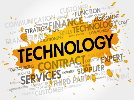 advanced computing: TECHNOLOGY related items words cloud, business concept