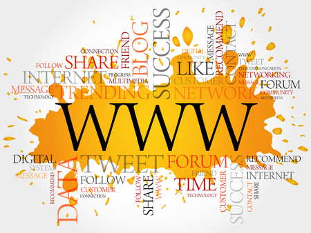 word www: WWW word cloud, business concept Illustration