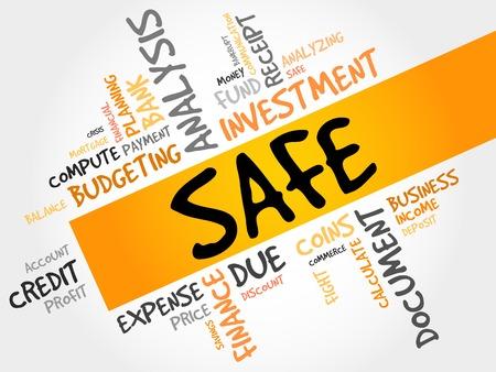 probability: SAFE word cloud, business concept Illustration