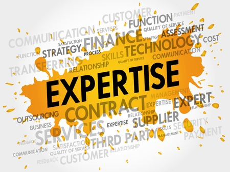 expertise concept: Expertise related items words cloud, business concept Illustration