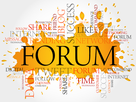 microblogging: Forum word cloud, business concept